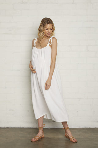 Linen Caity Dress - Chalk
