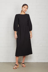 Linen Canvas Roma Dress - Licorice