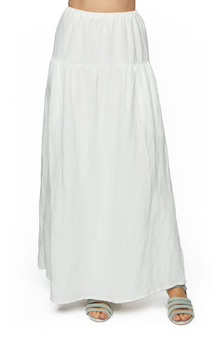 Linen Convertible Skirt / Dress - White