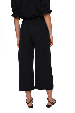 Linen Desiree Pants - Black