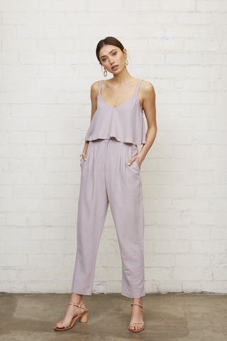 Linen Geoff Pant - Wisteria
