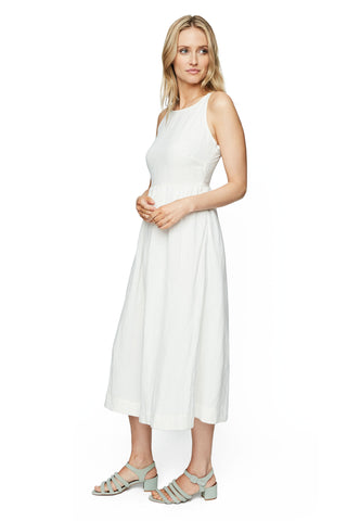Linen Greysun Dress - White