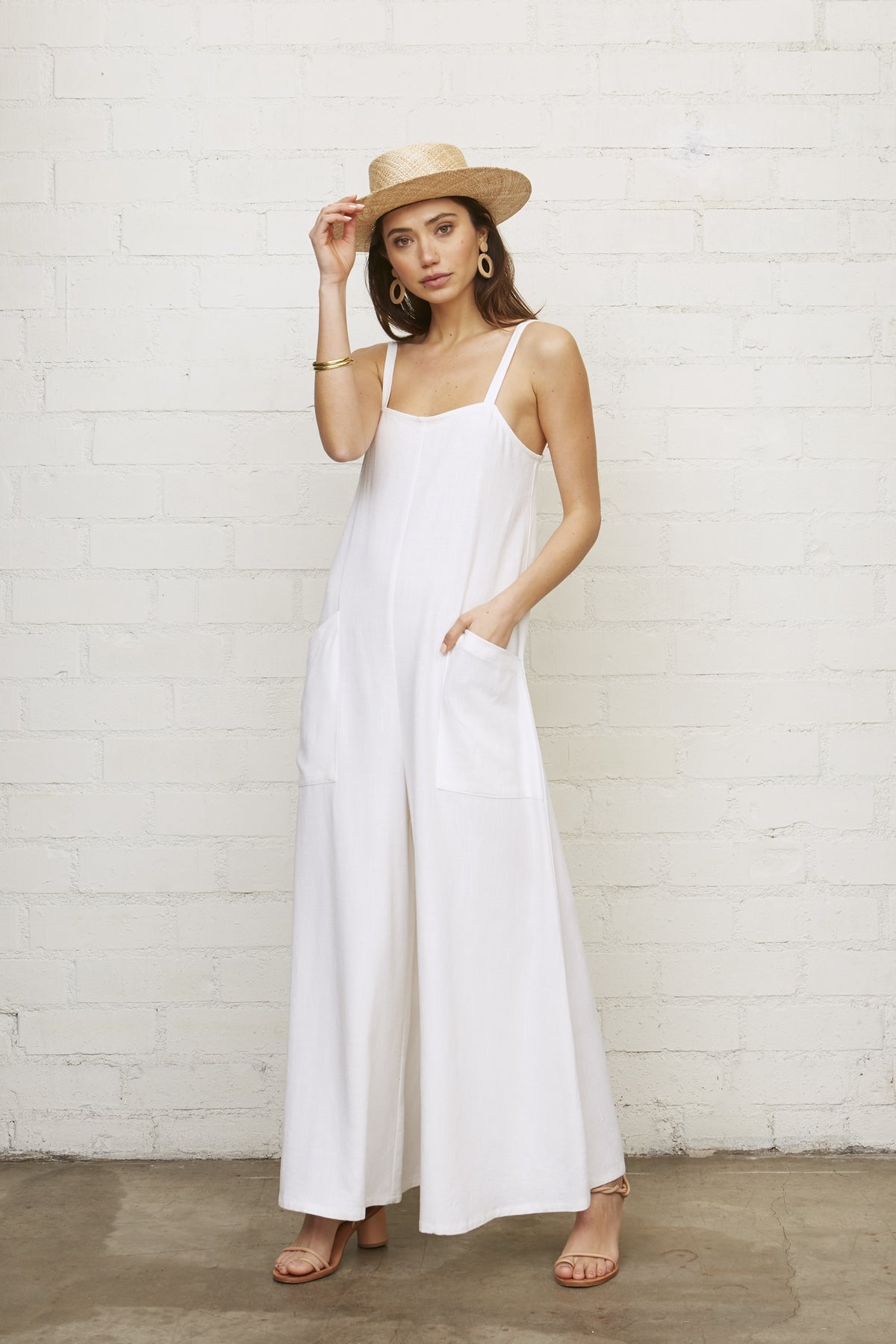 Linen Hugo Jumpsuit, Chalk