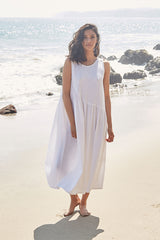 Linen Janie Dress - Chalk