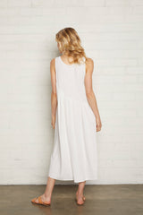 Linen Janie Dress - Chalk, Maternity