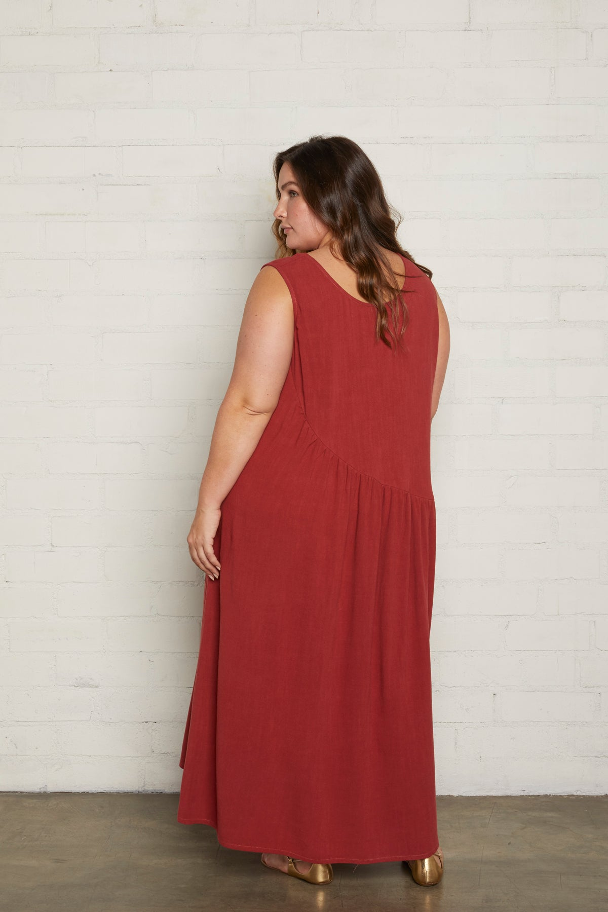Linen Janie Dress - Sumac, Plus Size