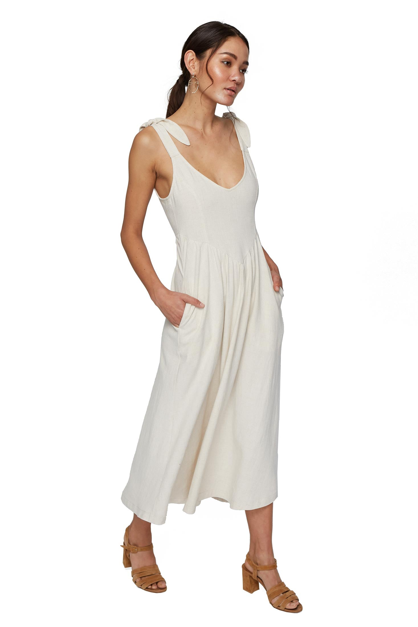 Linen Katy Dress - Natural