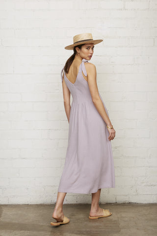 Linen Katy Dress - Wisteria