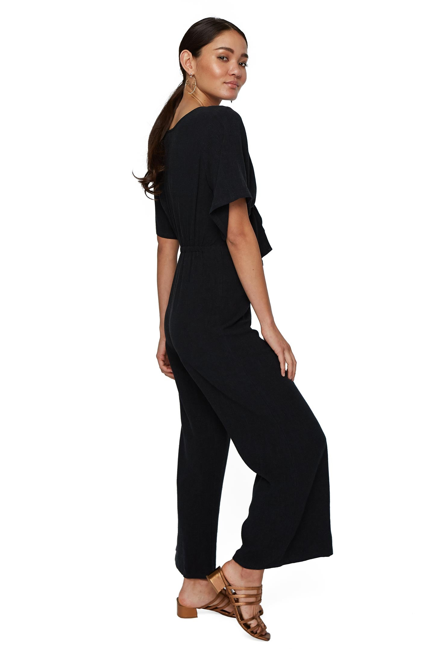 Linen Leon Jumpsuit - Black