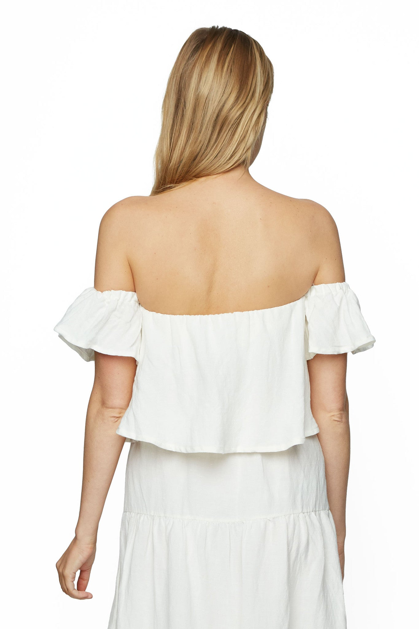 Linen Liandre Top - White