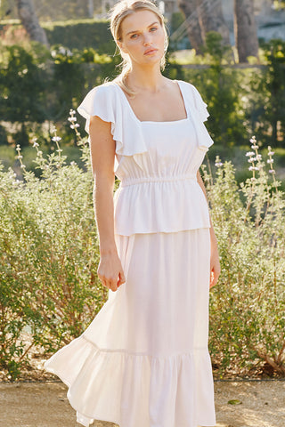 Linen Mariah Dress - Chalk
