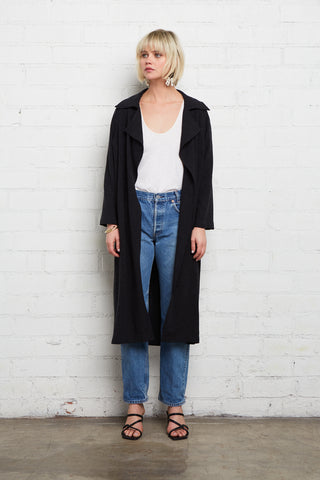 Linen Milla Duster - Black