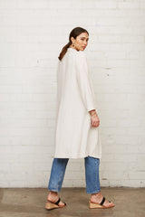 Linen Pocket Trench Coat - Natural
