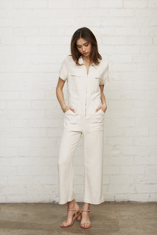 Linen Rocco Jumpsuit - Natural