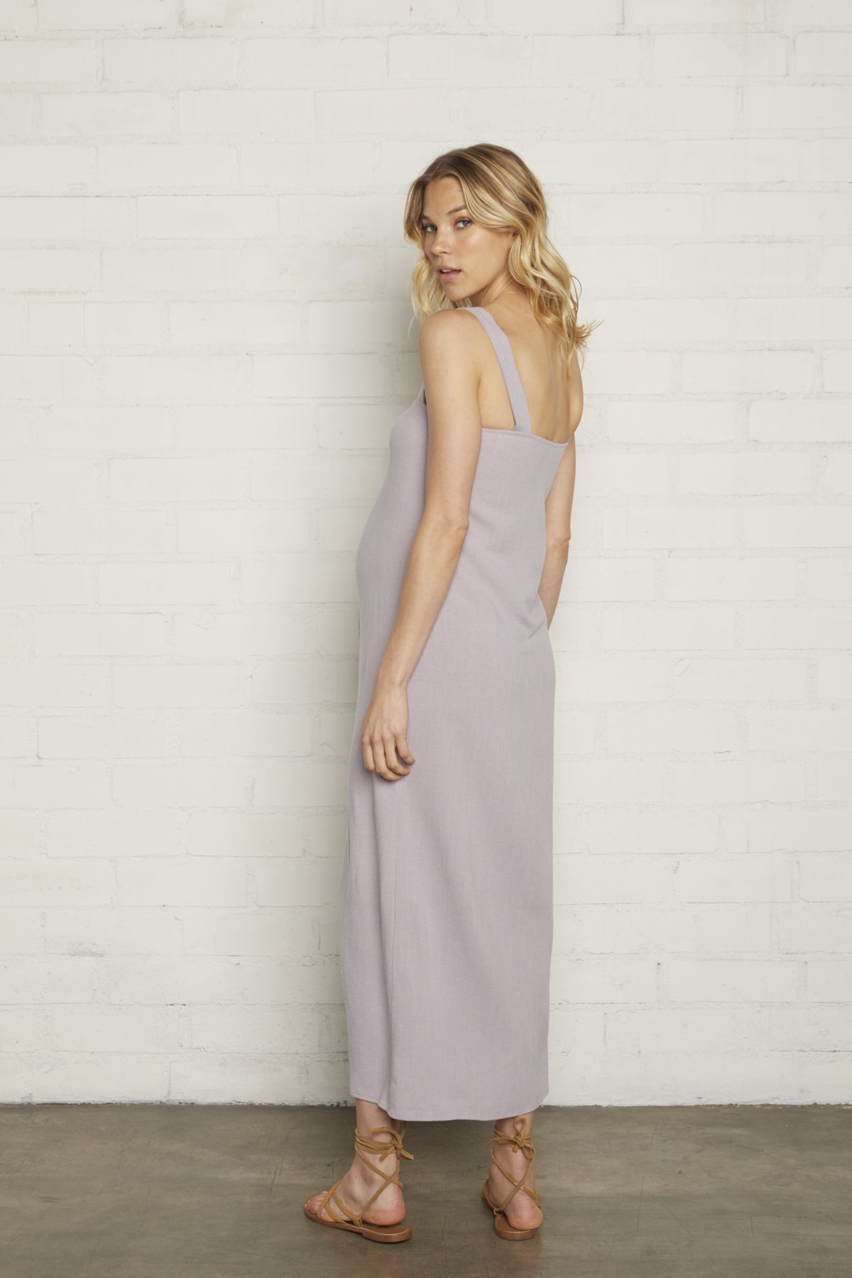 Linen Rome Dress - Wisteria, Maternity