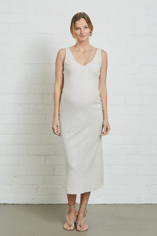 Linen Simona Dress - Natural, Maternity