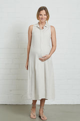 Linen Sofi Dress - Natural, Maternity