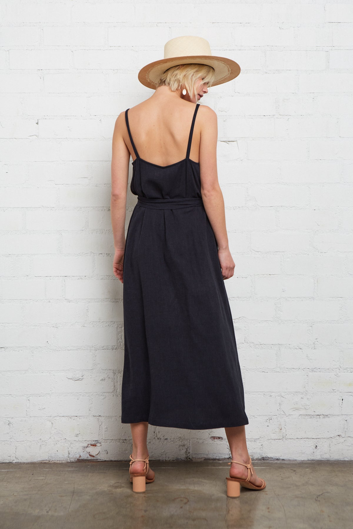 Linen Tallulah Dress - Black