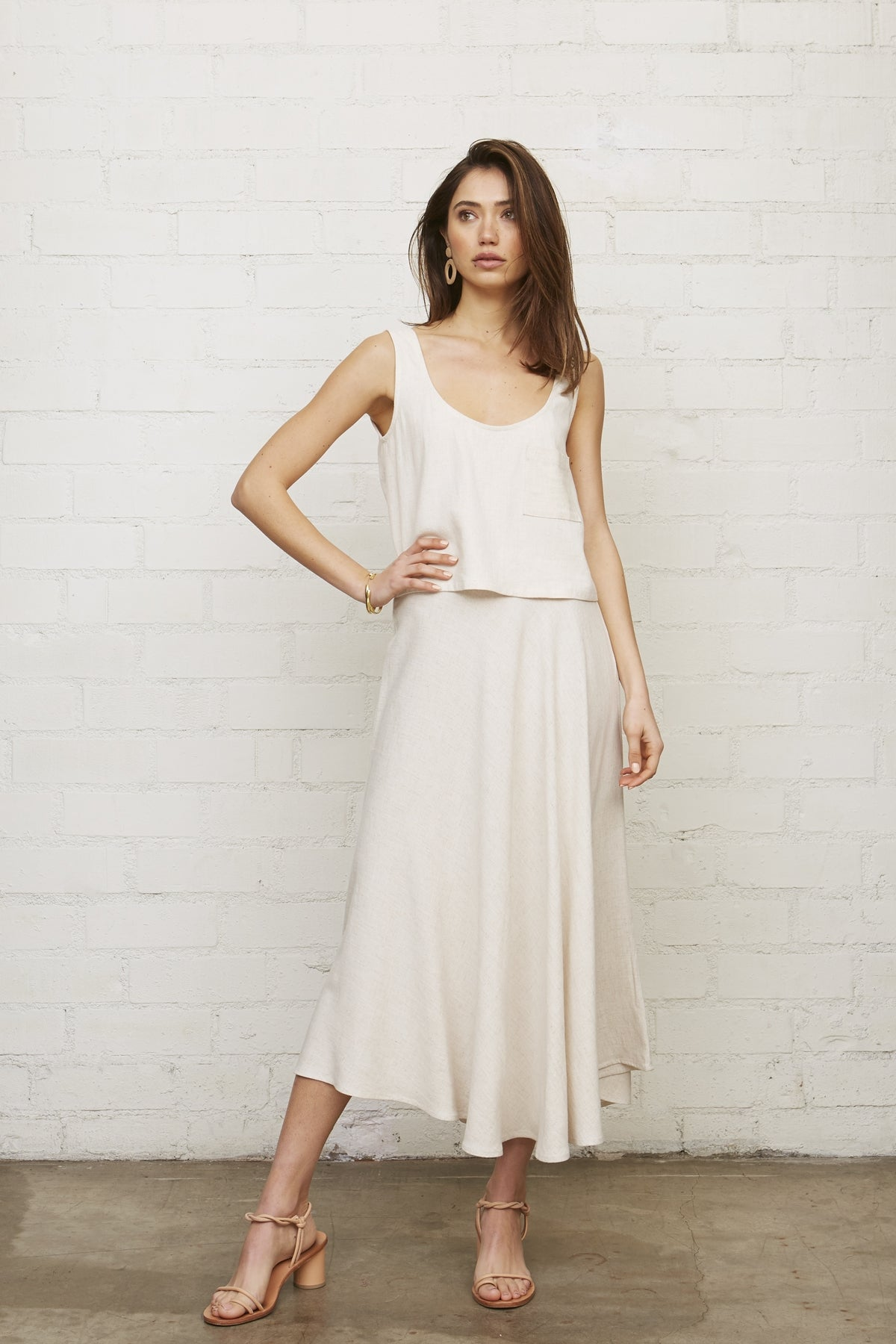 Linen Tamar Skirt - Natural