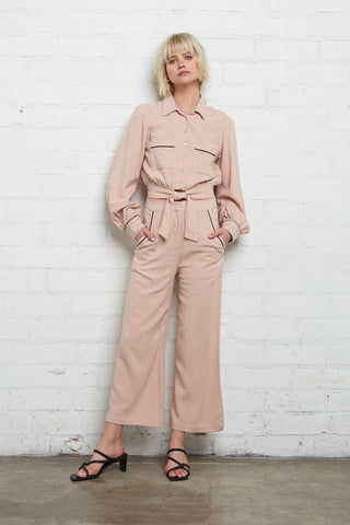 Linen Victor Pant - Sand
