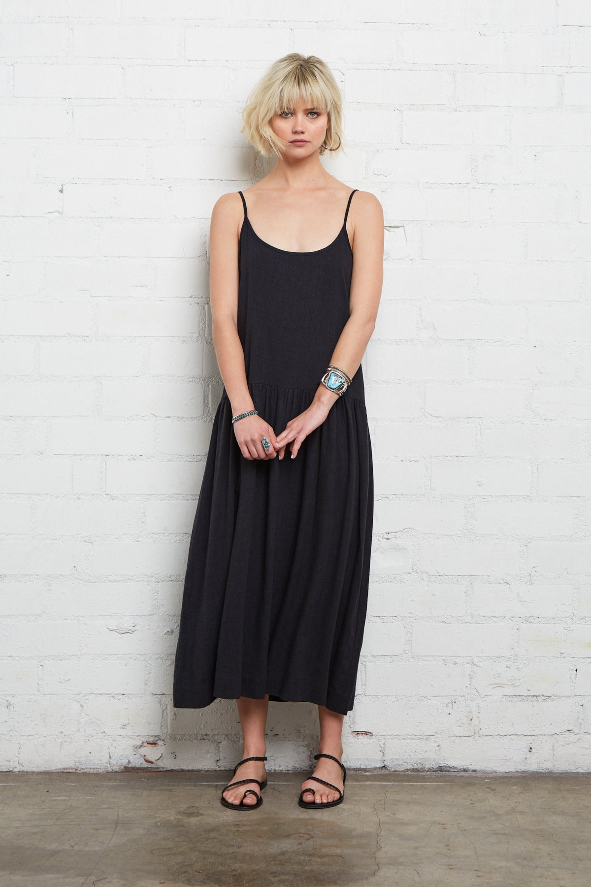 Linen Willis Dress - Black