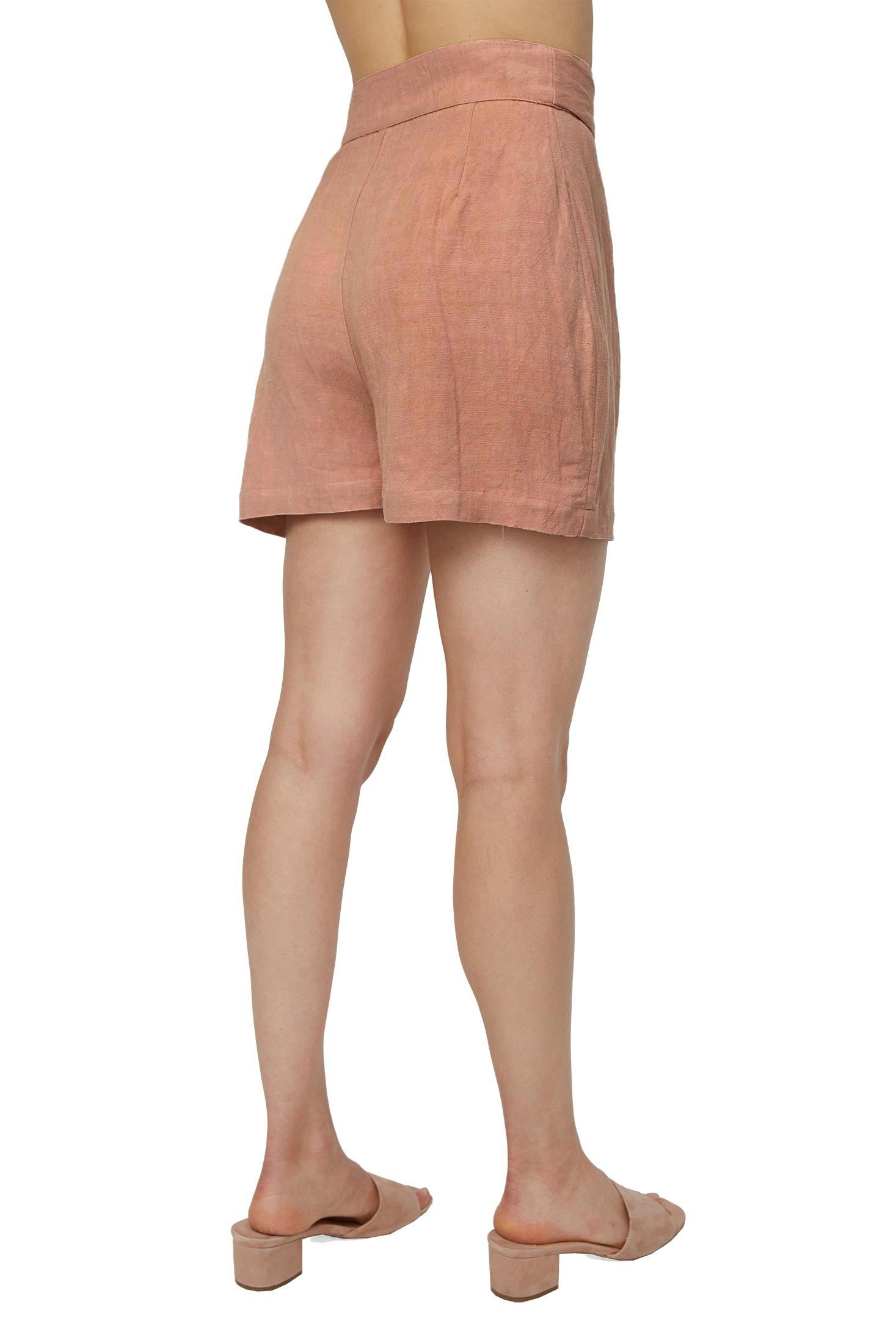 Linen Wrap Shorts - Maple Sugar