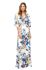 Long Caftan Dress Print - Botanical