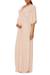 Long Caftan Dress - Champagne