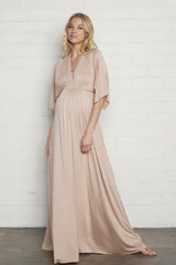 Long Caftan Dress- Bamboo, Maternity