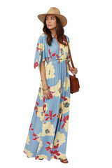 Long Caftan Dress Print - Bloom
