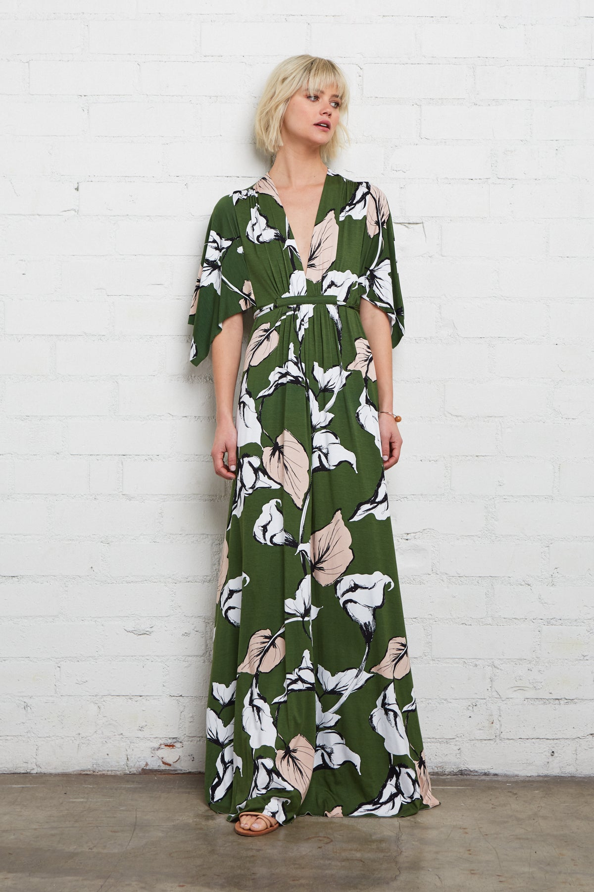 Long Caftan Dress - Calla Print