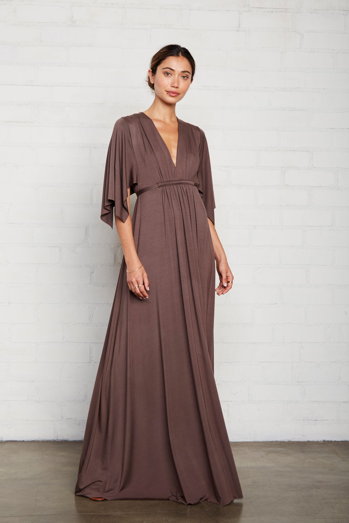 Long Caftan Dress - Cocoa
