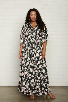 Long Caftan Dress - Plus Size