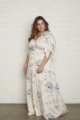Long Caftan Dress - Fleur, Plus Size