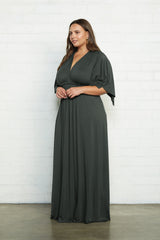 Long Caftan Dress - Juniper, Plus Size