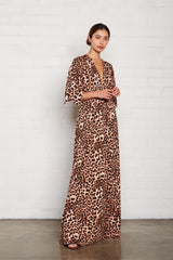 Long Caftan Dress - Leopard