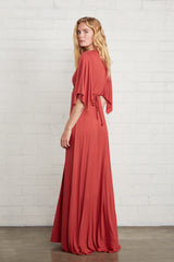 Long Caftan Dress - Mineral