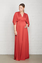 Long Caftan Dress - Mineral, Maternity