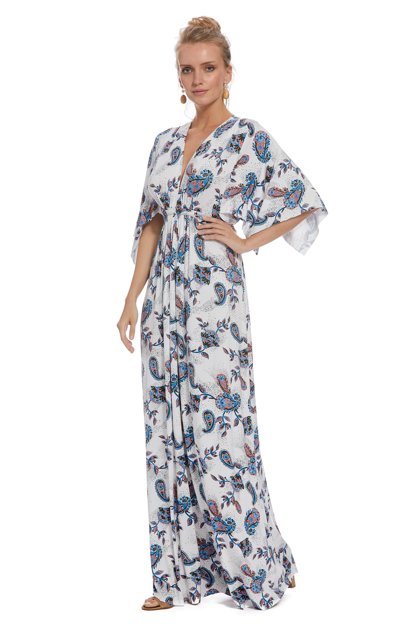 Long Caftan Dress - Paisley