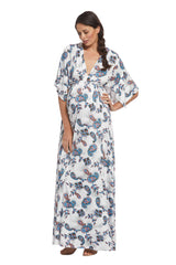 Long Caftan Dress - Paisley, Maternity