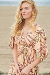 Long Caftan Dress - Palm