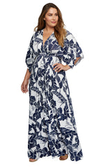 Long Caftan Dress - Palma, Plus Size