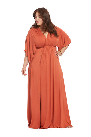 Long Caftan Dress - Paprika, Plus Size