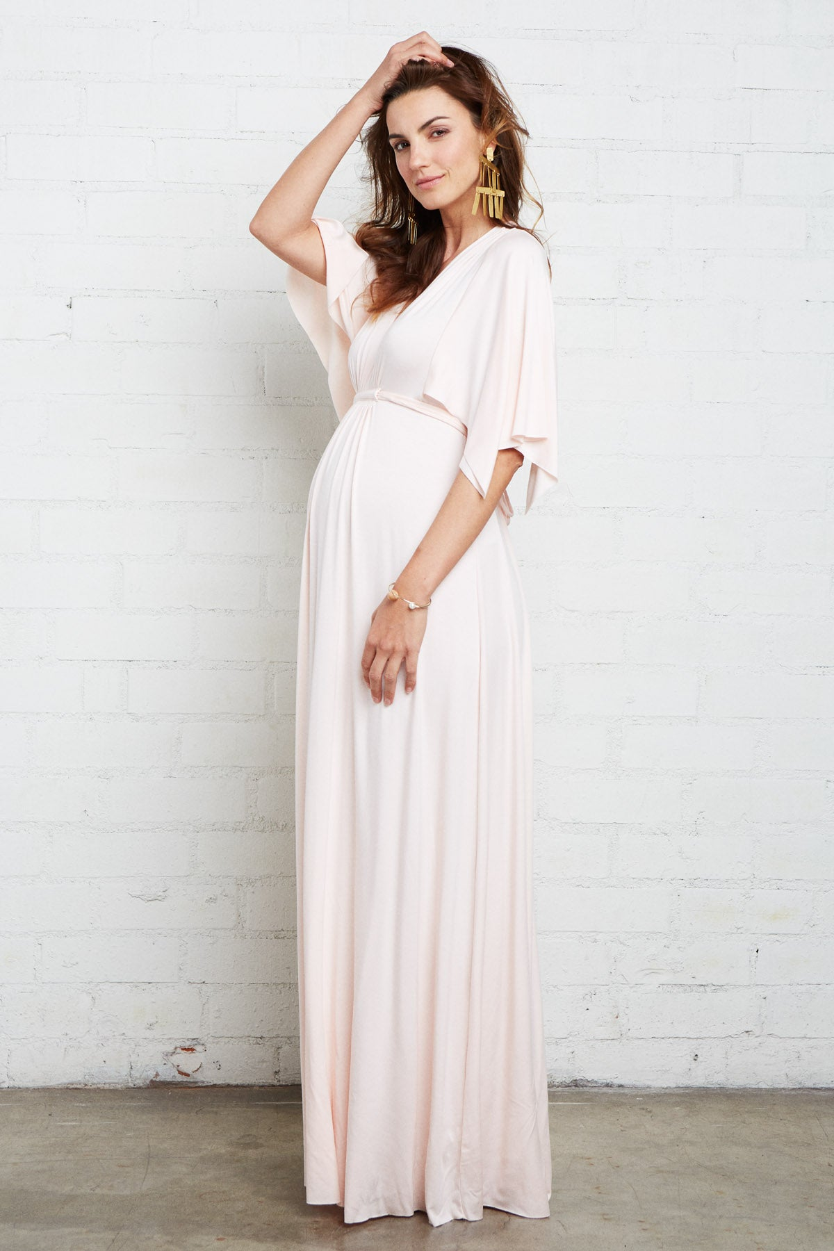 Long Caftan Dress - Petal, Maternity