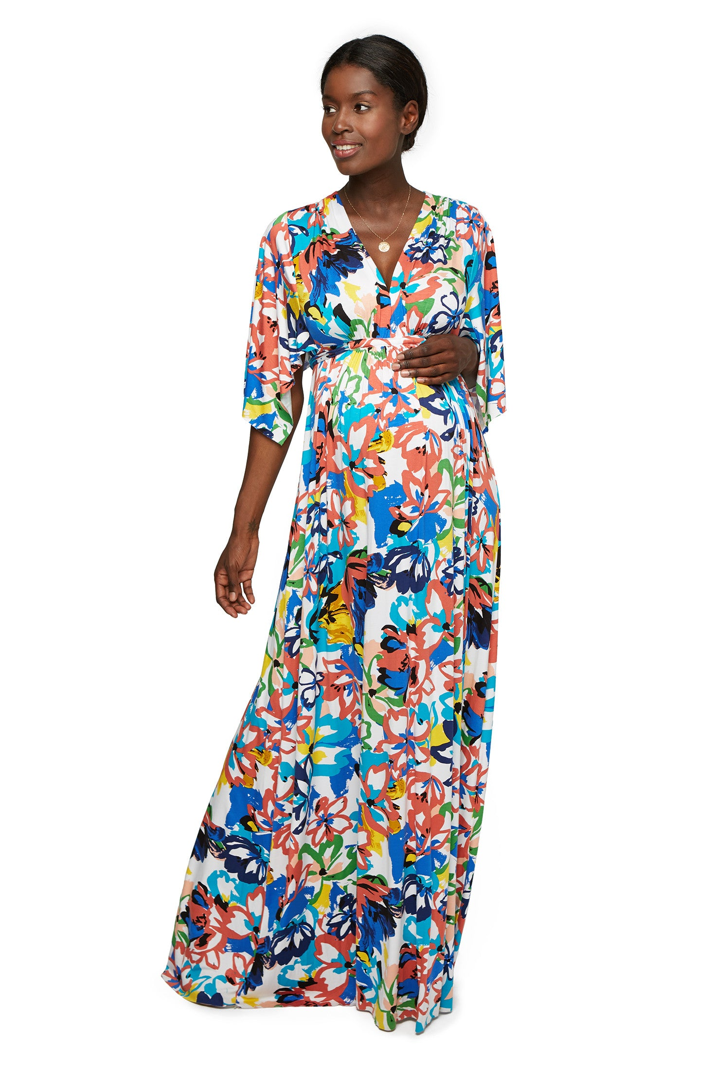 Long Caftan Dress - Flores