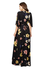 LONG CAFTAN DRESS PRINT- ROMANCE