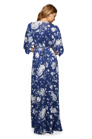 Long Caftan Dress Print - Seaside Peony