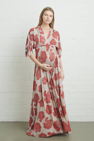Long Caftan Dress - Ruby Matilija, Maternity