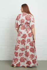 Long Caftan Dress - Ruby Matilija, Plus Size