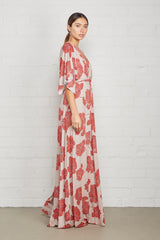 Long Caftan Dress - Ruby Matilija